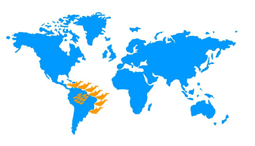 Mapa distribución Tucuxi, Sotalia fluviatilis